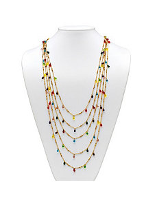 Multi-Colored Faceted Bead Necklace by PalmBeach Jewelry