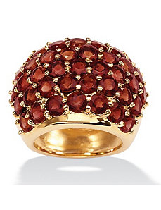 Garnet Dome Ring by PalmBeach Jewelry