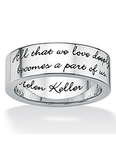 Inspirational Helen Keller Band by PalmBeach Jewelry