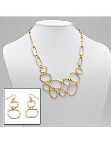 Multi-Circle Necklace/Earring Set by PalmBeach Jewelry