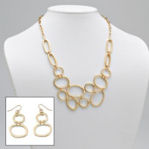 Multi-Circle Necklace/Earring Set