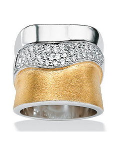 Cubic Zirconia Pave Band by PalmBeach Jewelry