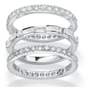 Set of Threecubic zirconia Eternity Bands