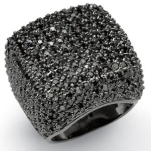 Blackcubic zirconia Dome Ring