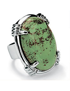 Oval-Shaped Turquoise Ring by PalmBeach Jewelry