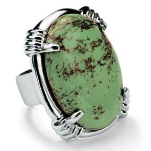 Oval-Shaped Turquoise Ring
