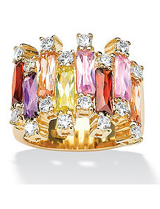 Multi-Coloredcubic zirconia Ring by PalmBeach Jewelry