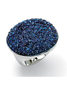 Blue Crystal Pave Ring by PalmBeach Jewelry