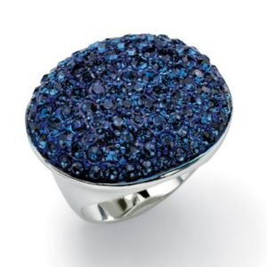 Blue Crystal Pave Ring