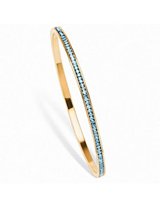 Birthstone Eternity Bangle Bracelet by PalmBeach Jewelry