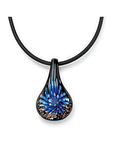 Multi-Colored Glass Pendant by PalmBeach Jewelry