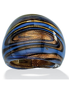Multi-Colored Glass Dome Ring by PalmBeach Jewelry