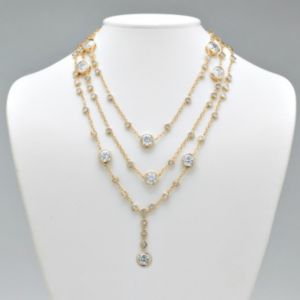 Bezel-Setcubic zirconia Necklace