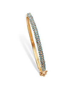 Birthstone Bangle Bracelet by PalmBeach Jewelry