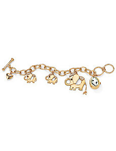 Elephant Charm Bracelet Watch by PalmBeach Jewelry