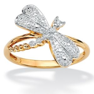 Diamond Accent Dragonfly Ring