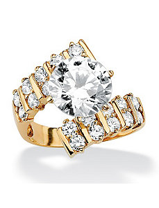 Roundcubic zirconia Bypass Ring by PalmBeach Jewelry