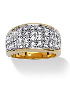Cubic Zirconia Pave Ring by PalmBeach Jewelry