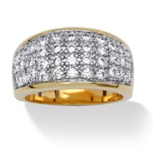 Cubic Zirconia Pave Ring
