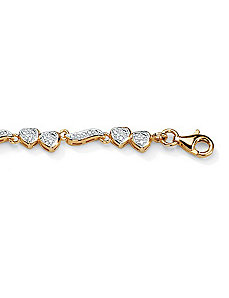 Diamond Heart and Wings Anklet by PalmBeach Jewelry