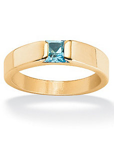 Princess-Cut Birthstone Stack Ring by PalmBeach Jewelry