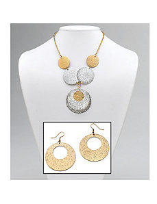 Textured Circle Jewelry Set by PalmBeach Jewelry