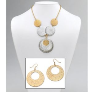Textured Circle Jewelry Set