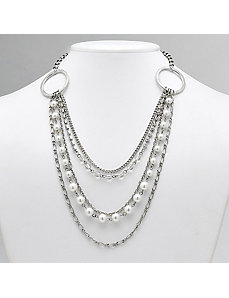 Multi-Strand Rhinestone Necklace by PalmBeach Jewelry