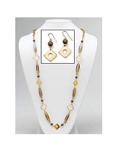 Geometric Lucite Jewelry Set by PalmBeach Jewelry