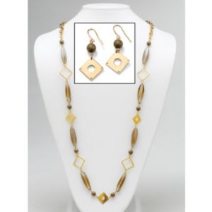 Geometric Lucite Jewelry Set