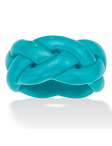 Viennese Turquoise Braided Band by PalmBeach Jewelry