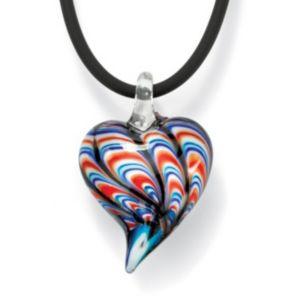 Red, White & Blue Heart Pendant