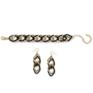 Curb-Link Bracelet & Earring Set