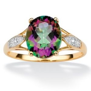 Mystic Topaz/Diamond Accent Ring