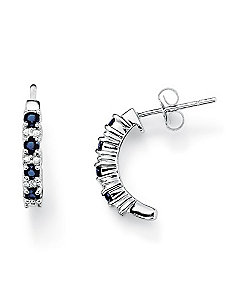 Sapphire & Diamond Accent Earrings by PalmBeach Jewelry
