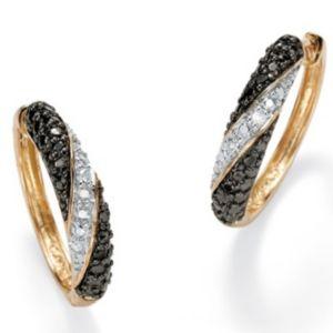 Black & White Diamond Acc. Earrings