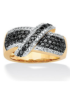 Black and White Diamond Ring by PalmBeach Jewelry