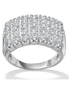 Diamond Pave Cluster Ring by PalmBeach Jewelry