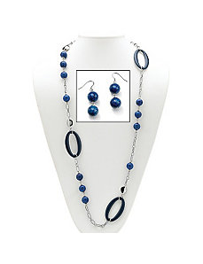 Blue Quartz Geometric Jewelry Set by PalmBeach Jewelry
