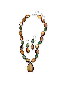 Jasper and She'll Jewelry Set by PalmBeach Jewelry