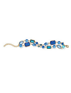 Blue Geometric Bracelet by PalmBeach Jewelry