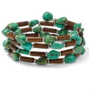 Viennese Turquoise/Wood Bracelet