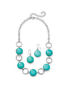 Viennese Turquoise Jewelry Set by PalmBeach Jewelry