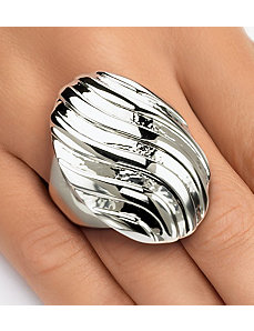Swirled Dome Ring by PalmBeach Jewelry