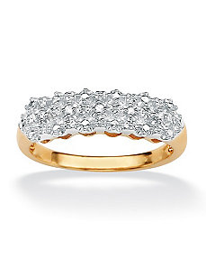 Diamond Accent Pave Ring by PalmBeach Jewelry