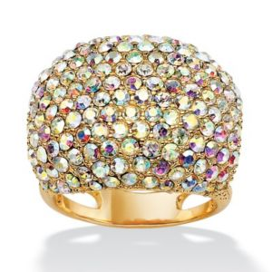 Aurora Borealis Crystal Dome Ring