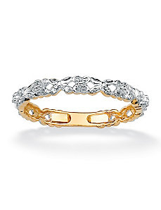 Diamond Accent Eternity Band by PalmBeach Jewelry