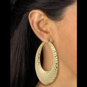 Hammered-Style Hoop Earrings