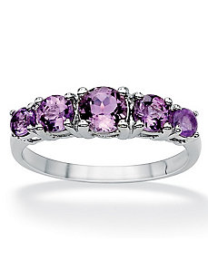 Graduated Amethyst Ring by PalmBeach Jewelry