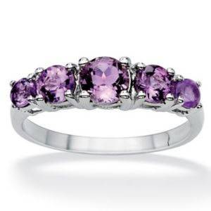 Graduated Amethyst Ring